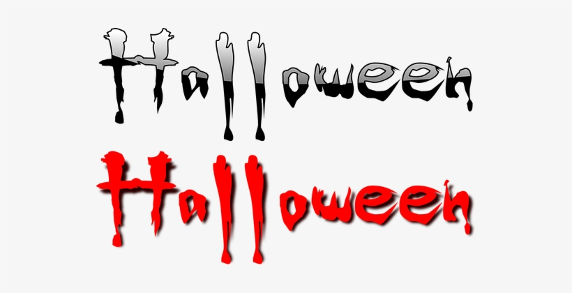 Halloween, Text, Blood, Dripping, Horror - Halloween Vector Free Png, transparent png #47381