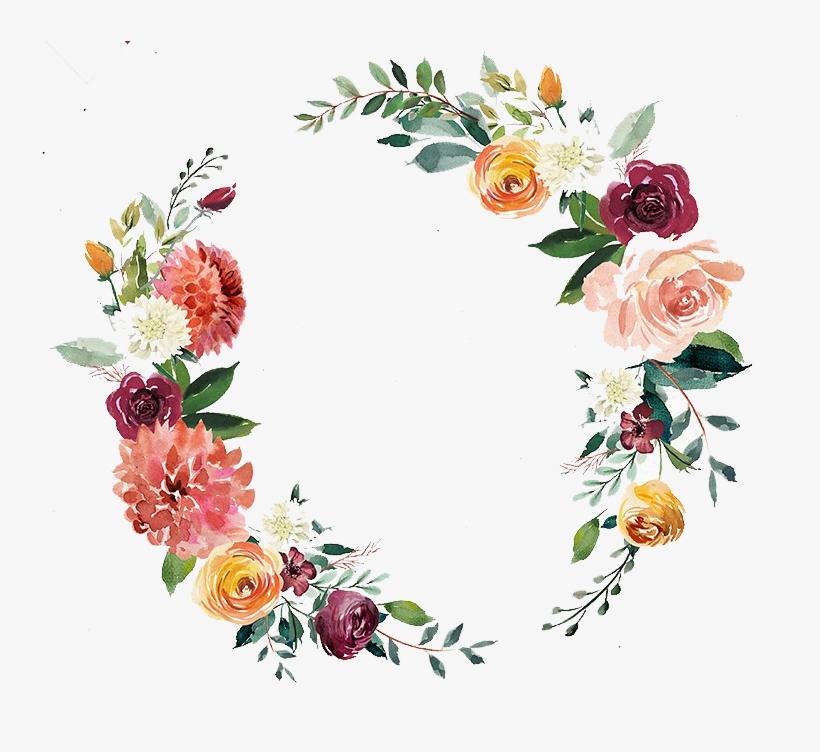 Free Watercolor Wreath Wedding Invitation - Transparent Watercolor Wreath Png, transparent png #47746