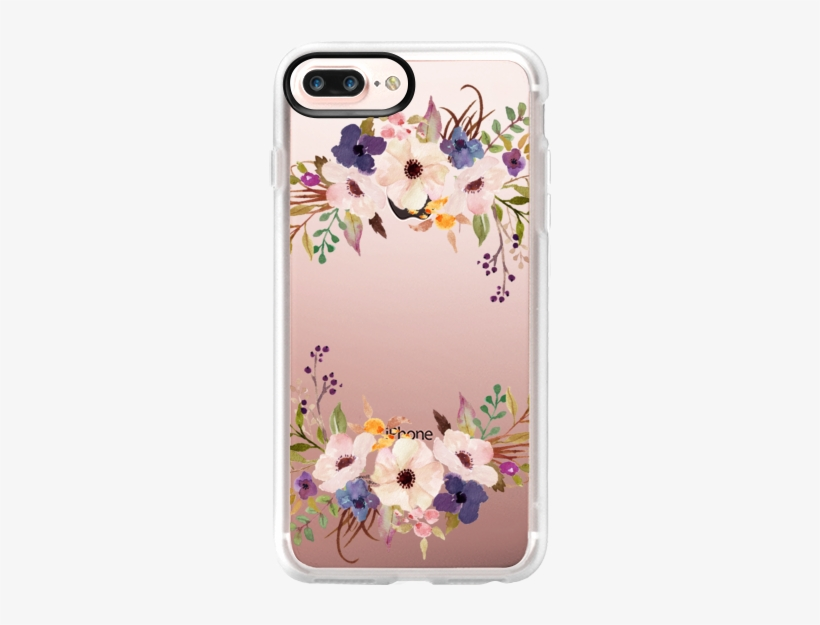 Casetify Protective Iphone 7 Plus Case And Iphone 7 - Floral Prints By Jonny And Britt Designs - Floral 'home, transparent png #47856