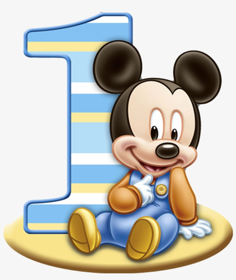 1st Birthday Png Free Download - Baby Mickey Mouse 1st Birthday, transparent png #47899