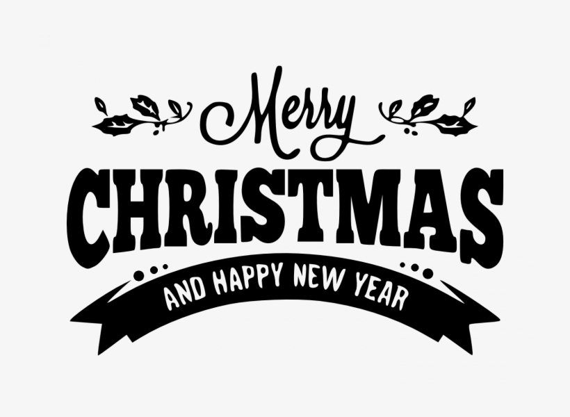 Merry Christmas And Happy New Year Png, transparent png #48020