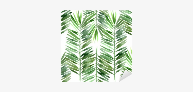Palm Tree Leaves Watercolor, transparent png #48350