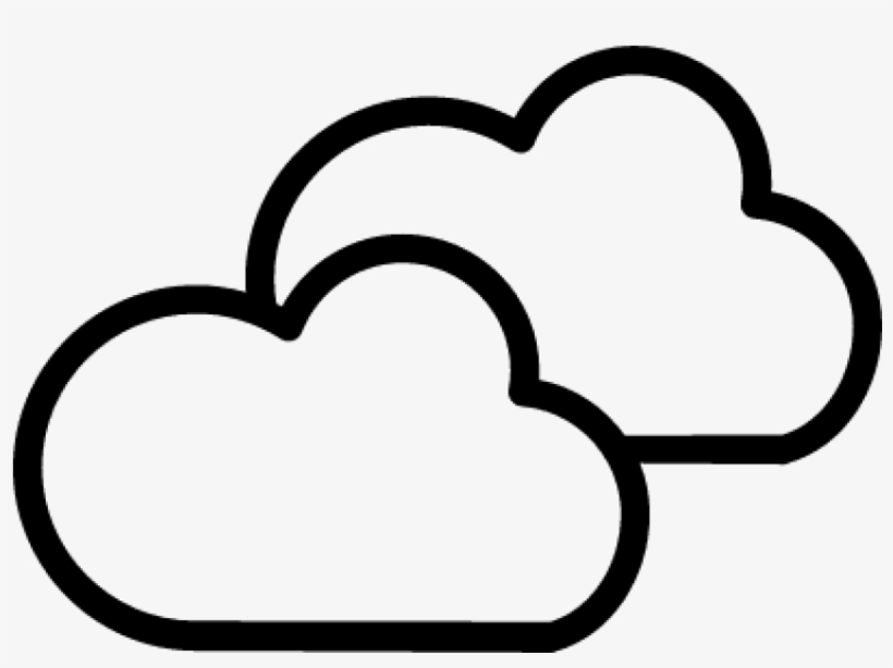 53934 Cloudy Weather Symbol Outline Of Two Clouds - Cloudy Weather Symbol, transparent png #49111