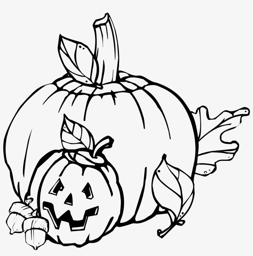 Free Vector Pumpkins Black And White Clip Art
