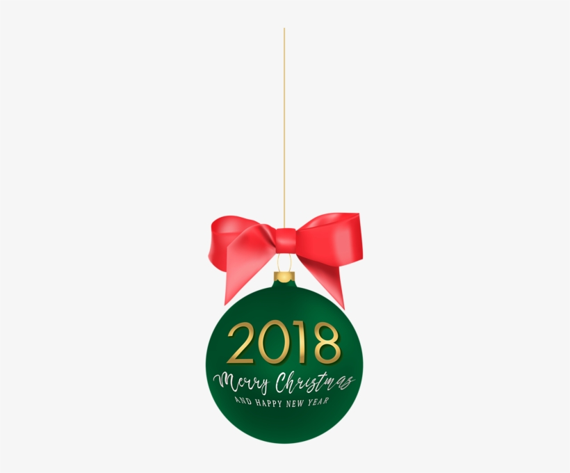 2018 Happy New Year Christmas Ball Png Clip Art Image - Christmas Decoration, transparent png #49408