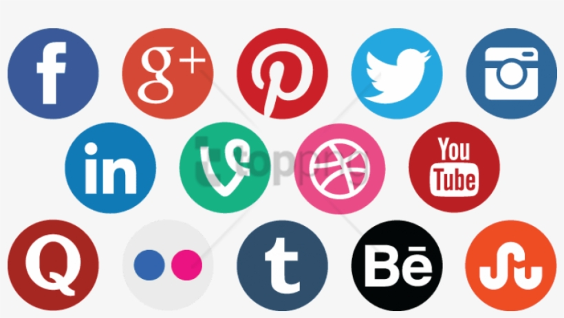 Social Media Icons Png Free Image Transparent - Social Media Icon Transparent Background, transparent png #49502