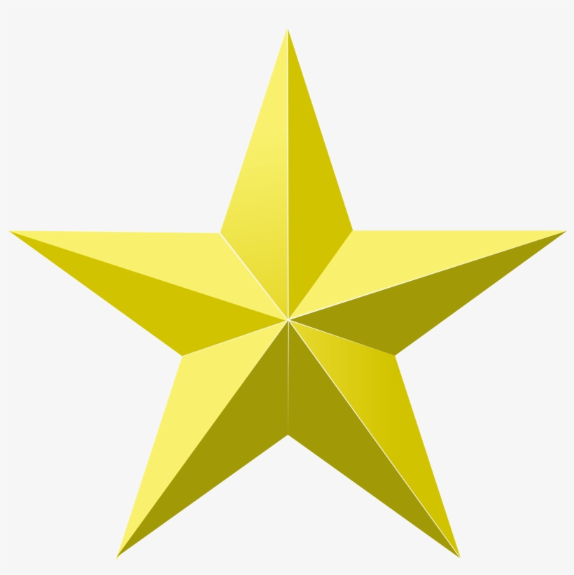 Gold Stars Png - Gold Star Png, transparent png #49525