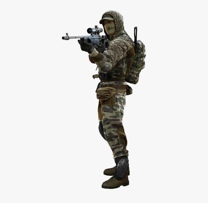 Soldier Png - Battlefield 4 Sniper Png, transparent png #49566