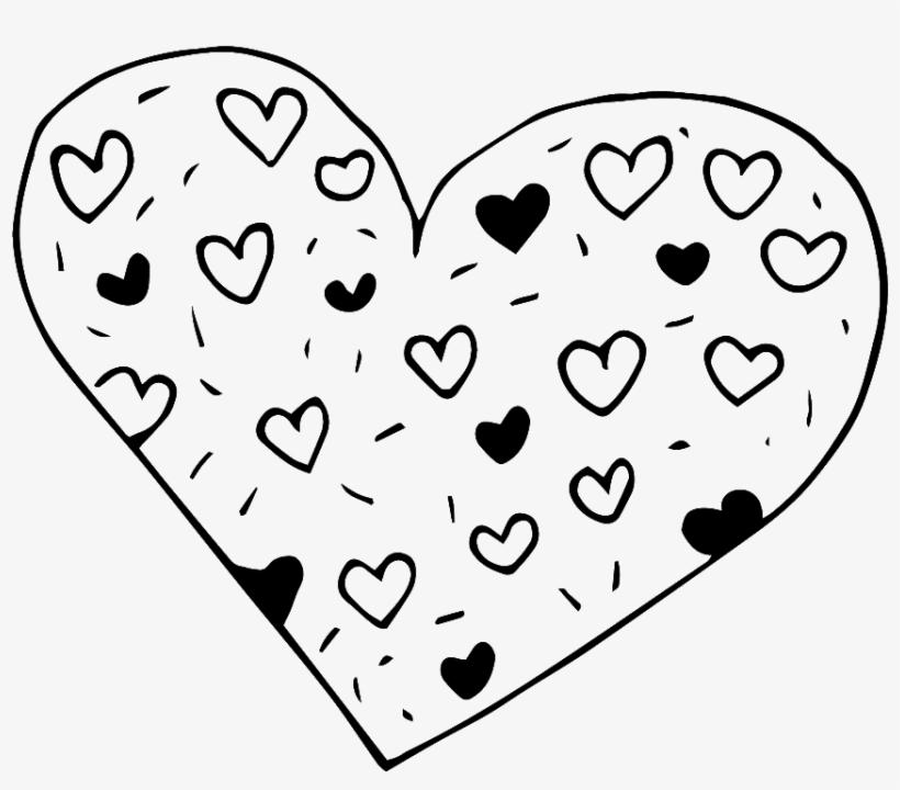 Black And White Hand Drawn Heart Shaped Love Vector 愛心 黑白