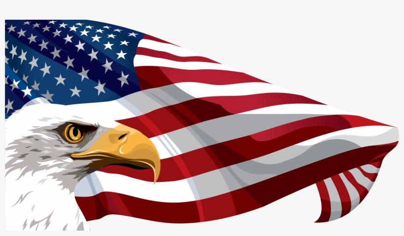 Download American Flag Free Png Transparent Image And - American Flag And Eagle Clip Art, transparent png #49853