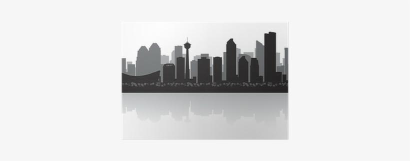 Calgary Canada City Skyline Vector Silhouette Poster - Calgary City Skyline Vector, transparent png #400032