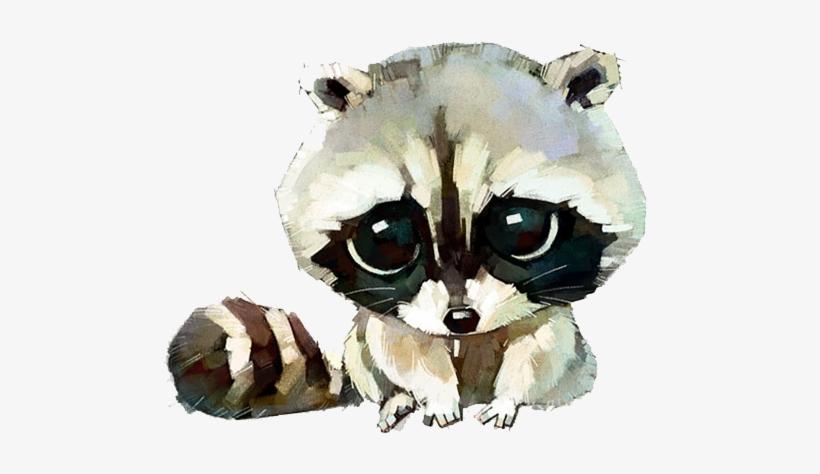 Raccoon Cat Dog Watercolor Painting Drawing - Cute Watercolor Animals, transparent png #400308