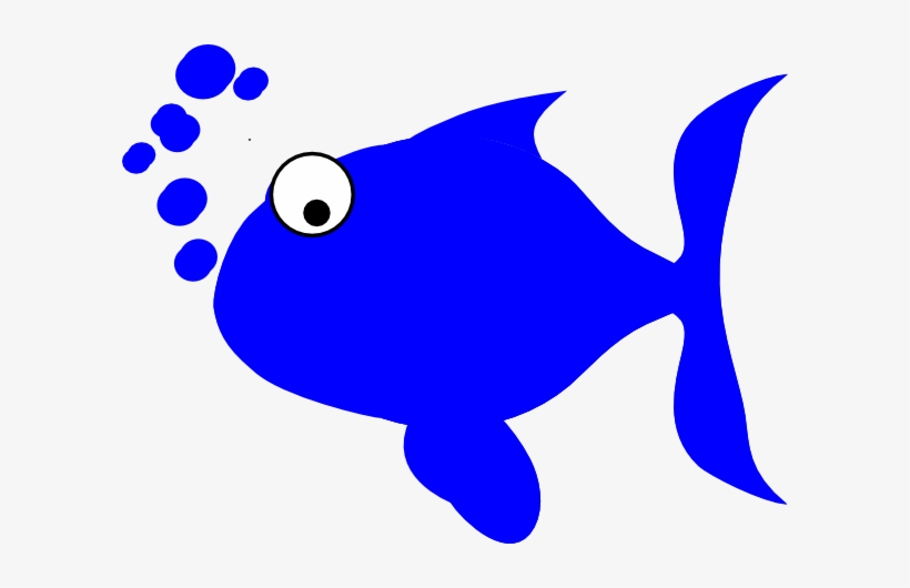 Clipart Black And White Stock Blue Fish Clip Art Panda - Red Fish Blue Fish Clipart, transparent png #400405