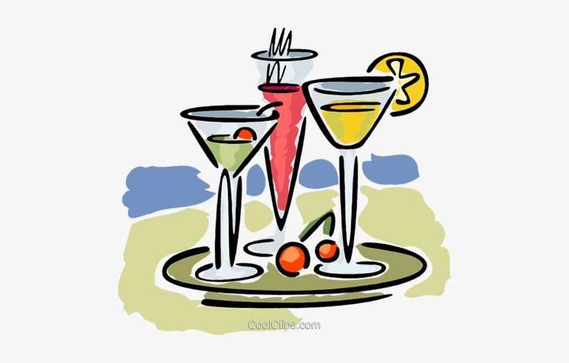 Tray Of Mixed Drinks Royalty Free Vector Clip Art Illustration - Mixed Drinks, transparent png #400835