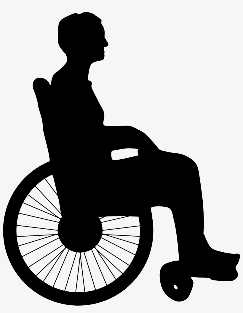 Graphic Black And White Library Silhouette At Getdrawings - Person In Wheelchair Silhouette Png, transparent png #401094