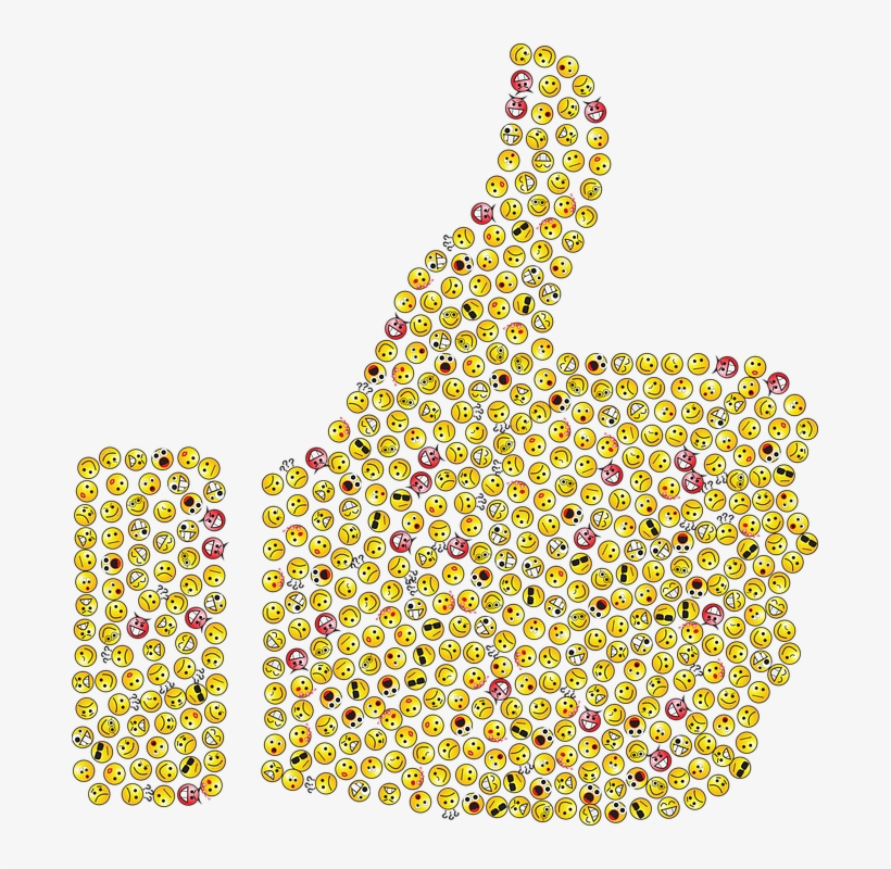 Thumbs Up, Emoticons, Emojis, Smileys, Icons, Yellow - Thumbs Up Emoji, transparent png #402741