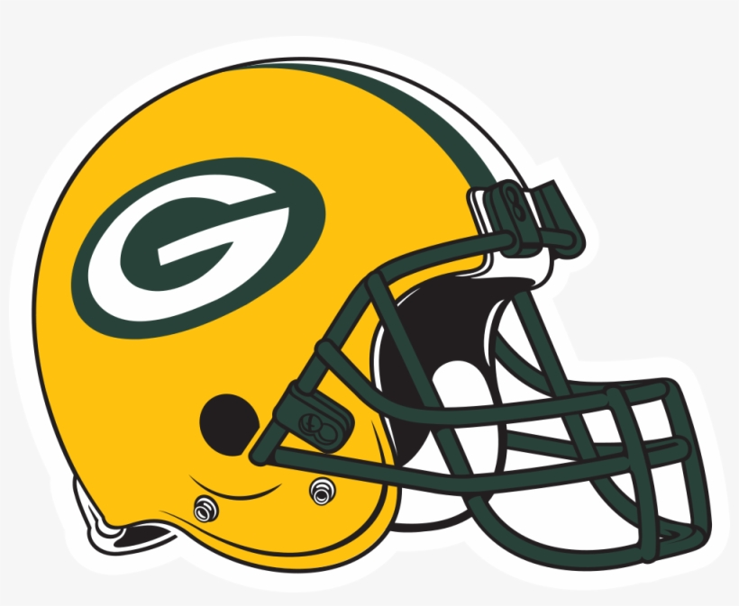 Gallery For Green Bay Packers Logo Stencil - Green Bay Packer Helmet, transparent png #403845