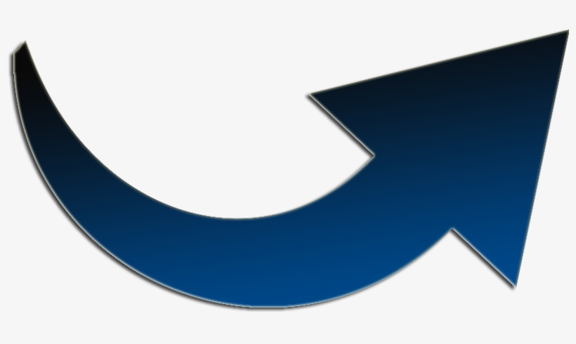 Curved Arrow Pointing Right Icon - Curved Arrow Pointing Right, transparent png #405449
