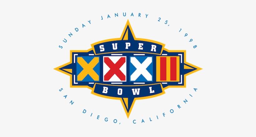 Super Bowl Xxxii - Super Bowl Xxxii Logo, transparent png #405557