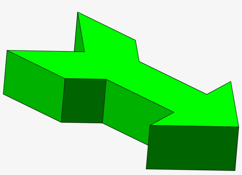 Green Arrow Point Right, transparent png #405649