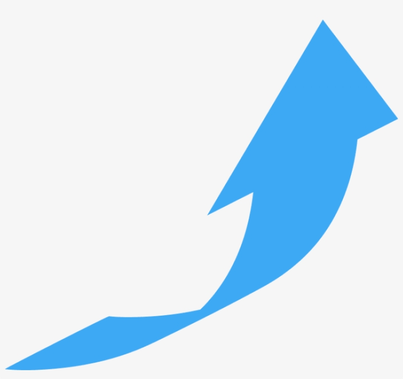 Curved, Wide Directional Arrow Pointing To Upper Right - Curved Arrow Pointing Up, transparent png #405792