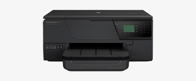 Hp Officejet Pro 3610 Black & White E All In One Printer - Hp Officejet Pro 3610 Black And White E-all-in-one, transparent png #405865