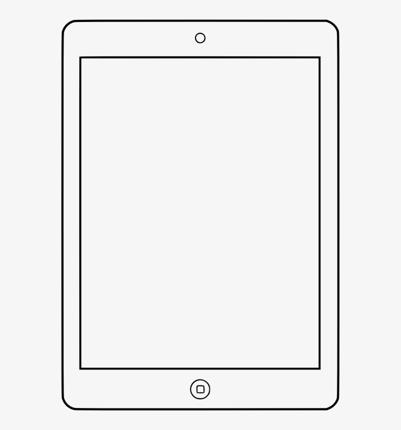 28 Collection Of Apple Ipad Clipart Black And White - Ipad Clipart Black And White, transparent png #406078