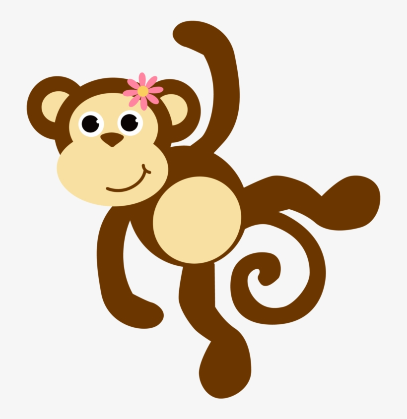 Free Images Download 2018 Monkey Clipart No Background - Baby Girl Animals Clipart, transparent png #406269