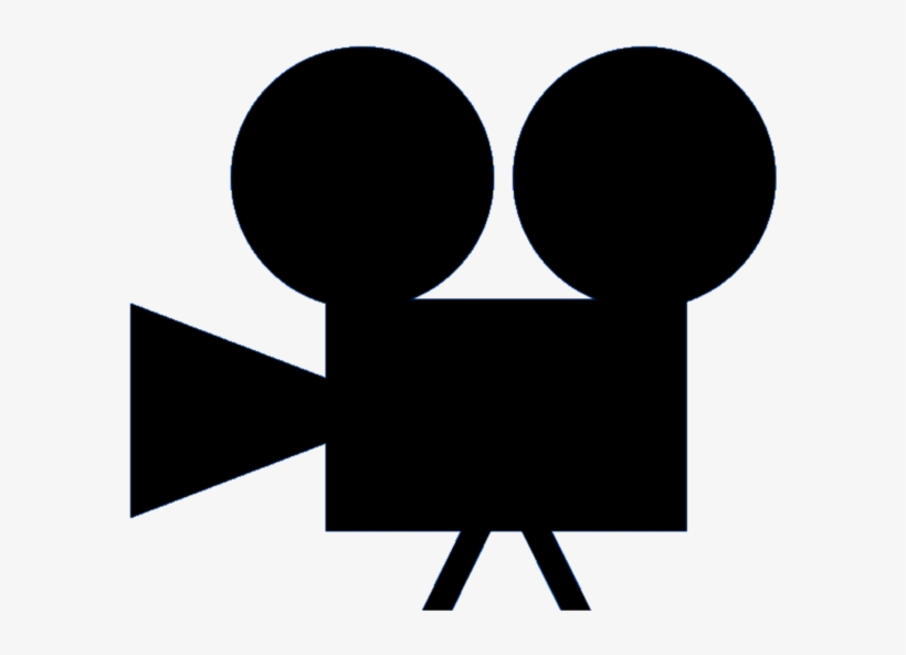 Movie silhouette. Clipart camera png free