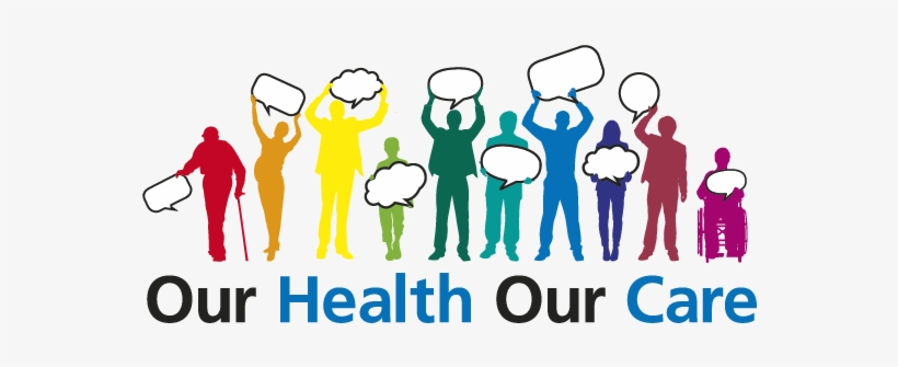 Social Health Clipart - Our Health Our Care Our Say, transparent png #4001145