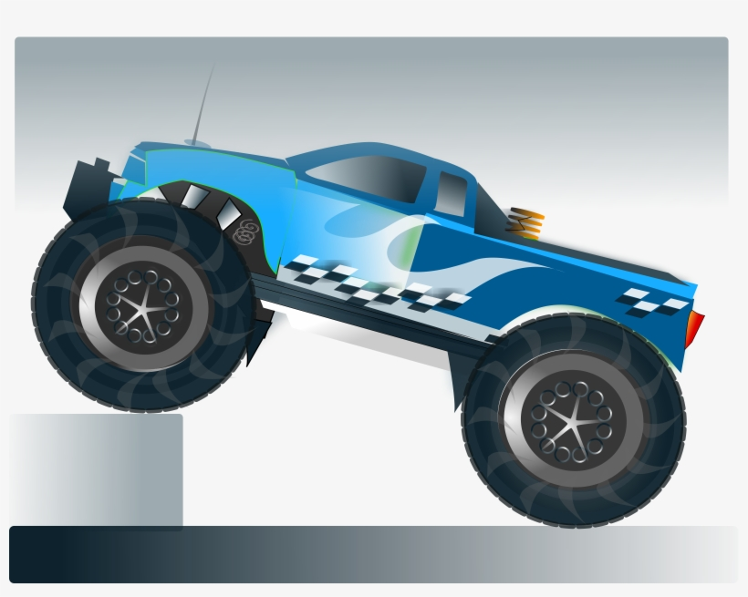 Clipart Monster Truck Stunt - Personalized Monster Truck Invitations, transparent png #4002248