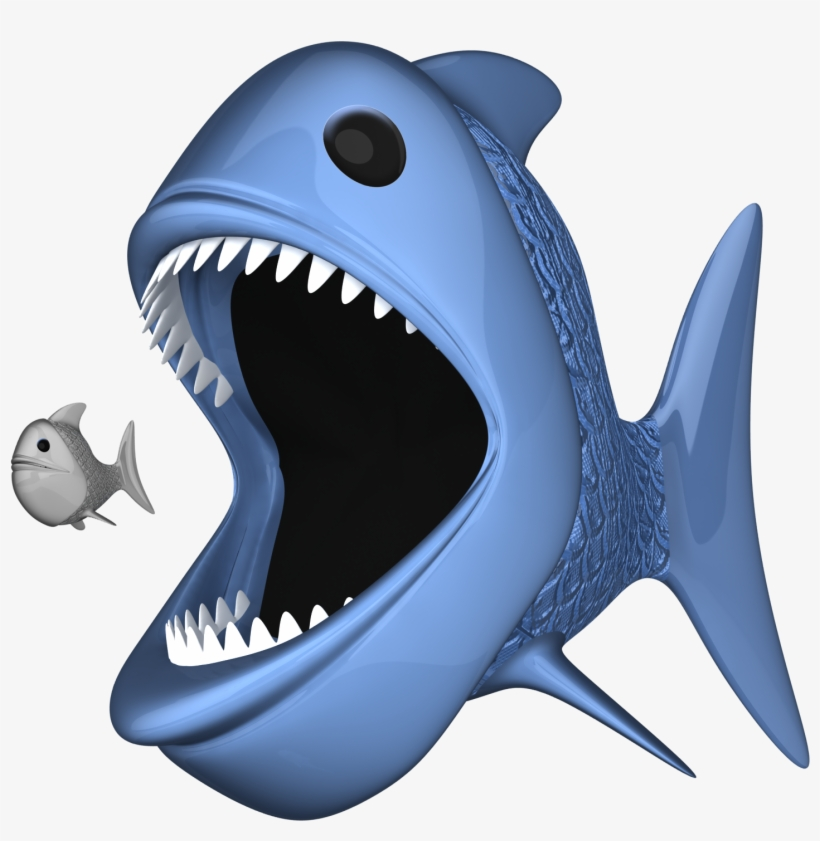 """""""do You Want To Be A Small Fish, Or A Big Fish"""" - Big Fish Eating A Small Fish Clip Art, transparent png #4002788"""