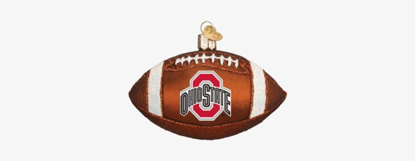 Ohio State Football Ornament - Old World Christmas Lsu Football Glass Blown Ornament, transparent png #4007779