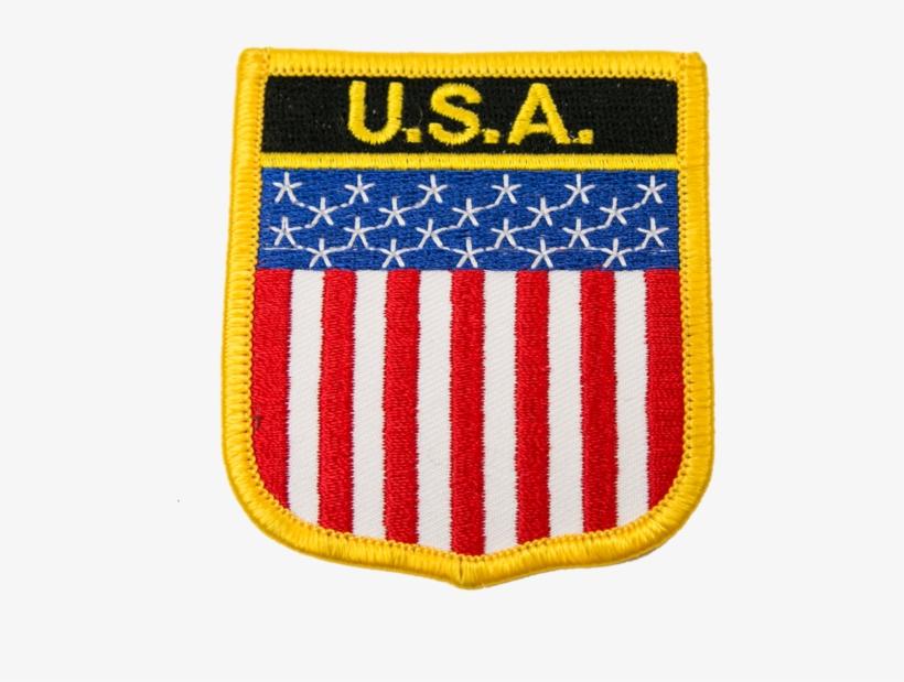 1138 Usa Flag Patch - Usa Flag Shield Patch, transparent png #4008808