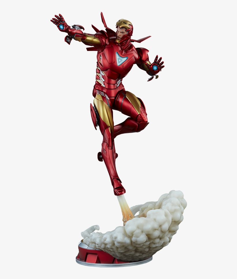 Iron Man Extremis Mark Ii Statue - Iron Man Extremis Mark Ii, transparent png #4009521