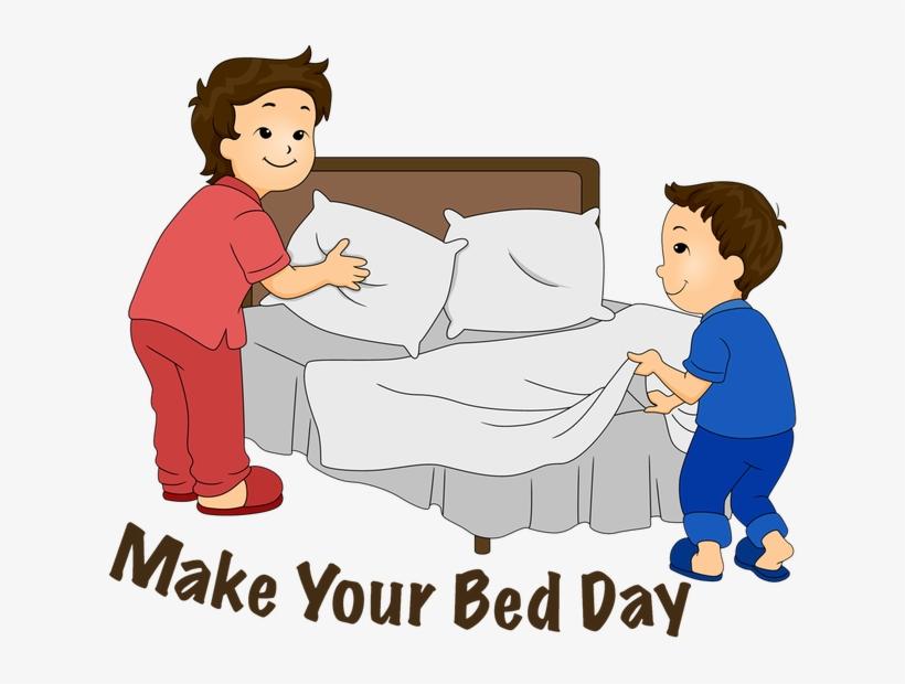 Make Bed Clipart - Make Up Bed Clipart, transparent png #4009769