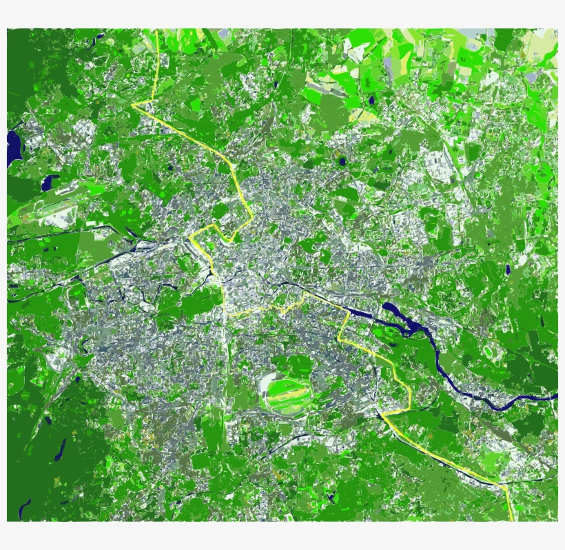 Medium Image - Berlin Green Map, transparent png #4011971