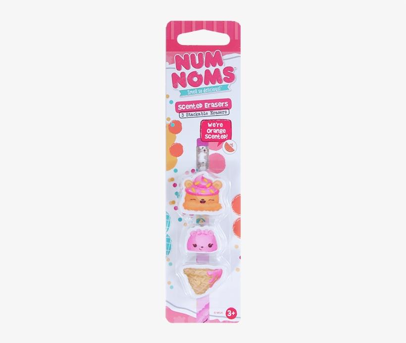 Num Noms Eraser Orange Front - Scentco Num Noms Mint Chocolate Erasers 3 Pack, transparent png #4013833