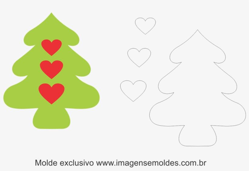 Molde Arvore De Natal Em Feltro, transparent png #4016186