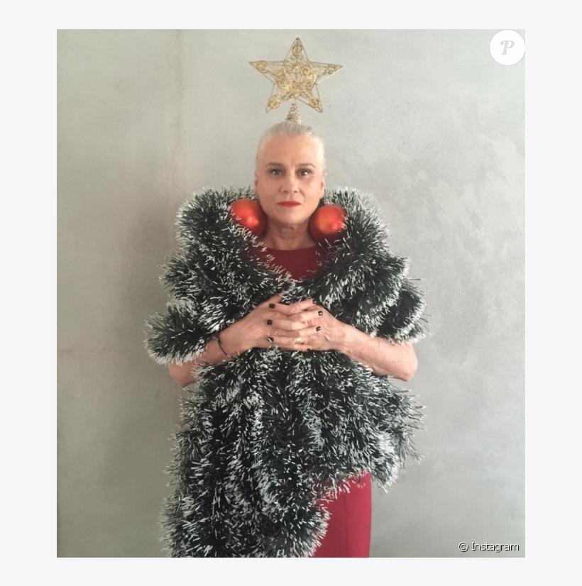 Vera Holtz Postou Uma Foto Fantasiada De Árvore De - Arvore De Natal Engraçada, transparent png #4016513