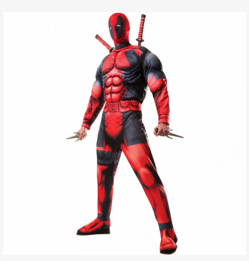 Deadpool Muscle Adult Costume - Rubie's Deadpool Deluxe Adult Costume, transparent png #4017882