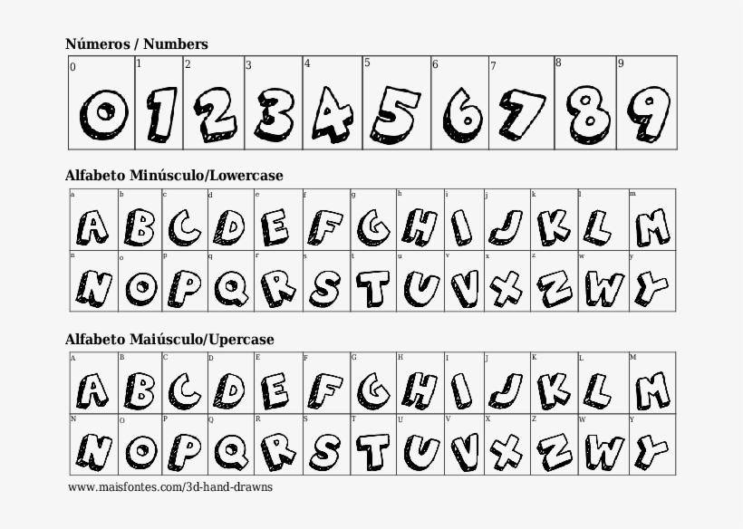 Fuente Detalles 3d Hand Drawns Font Free Transparent Png
