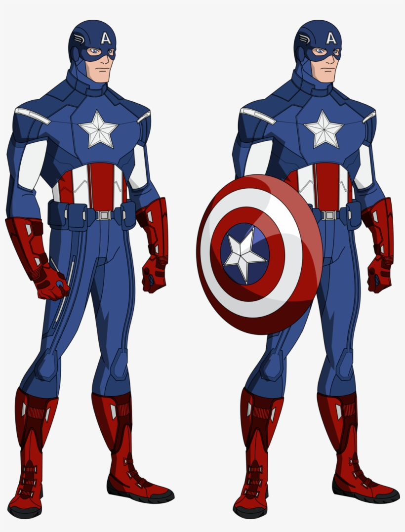 Vector Download America Drawing Comic - Captain America Avengers Animated, transparent png #4018545