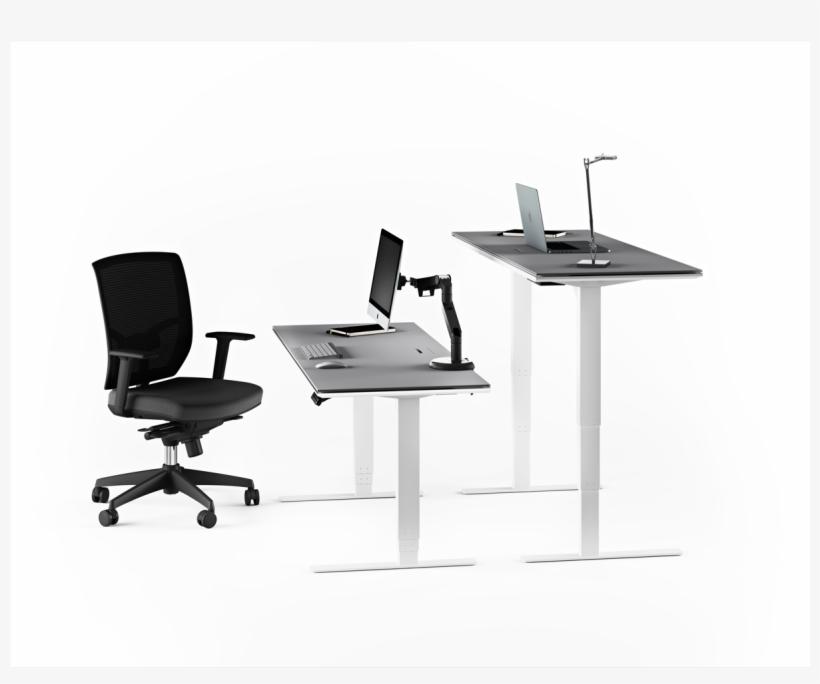 Centro 6451 Lift Desk - Bdi Centro Lift Standing Desk - Large / Storage Drawer, transparent png #4019780