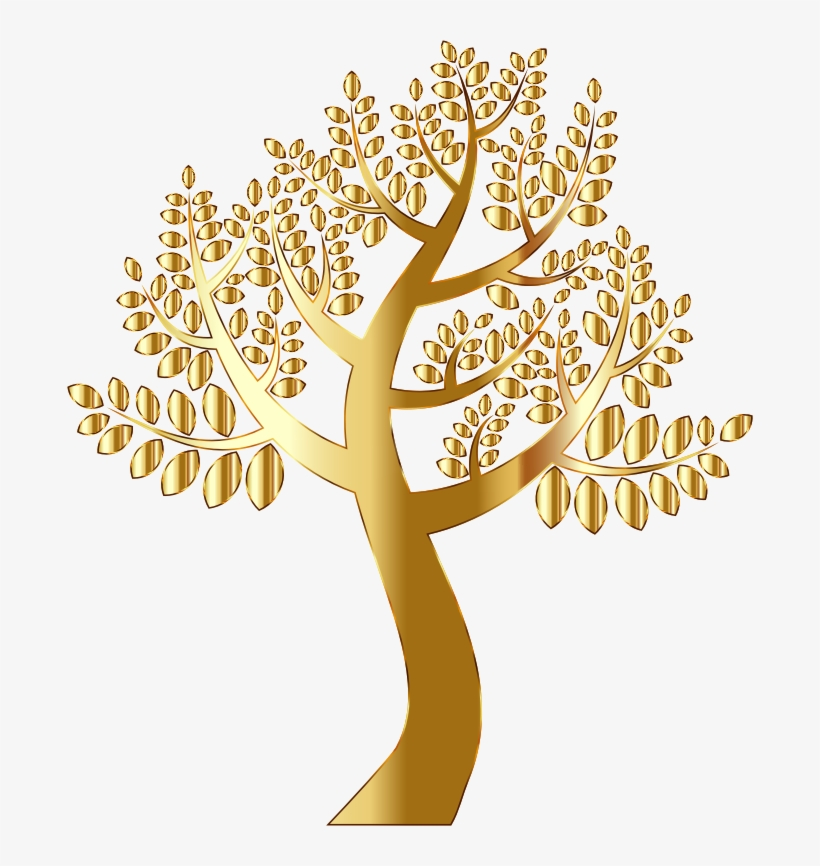 Christmas Tree Gold Computer Icons Oak Free Commercial - Gold Tree Transparent Background, transparent png #4020113