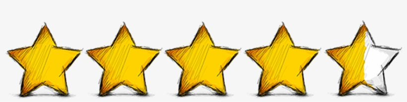 Five Stars - Five Star Rating Png, transparent png #4030277