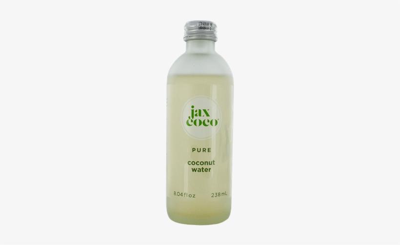 Jax Coco 100 Pure Coconut Water Glass Bottles - Glass Bottle, transparent png #4030349