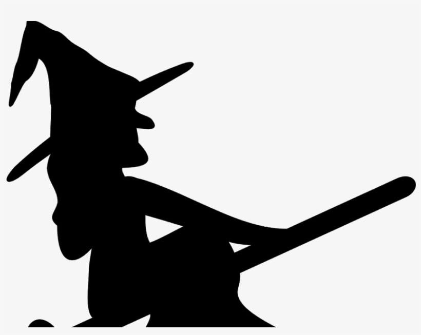 Witch On Broom Svg Free Transparent Png Download Pngkey