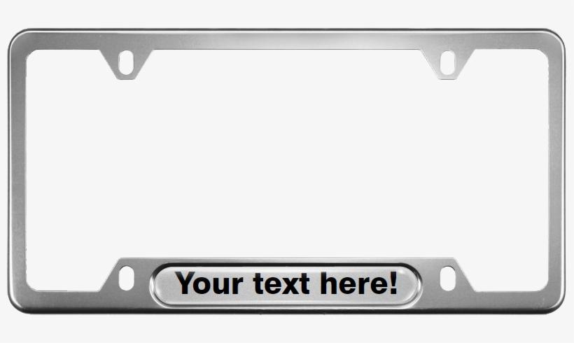 Car Narrow Top Aluminum Frames - Volkswagen R Line Licence Plate Frame, transparent png #4040004