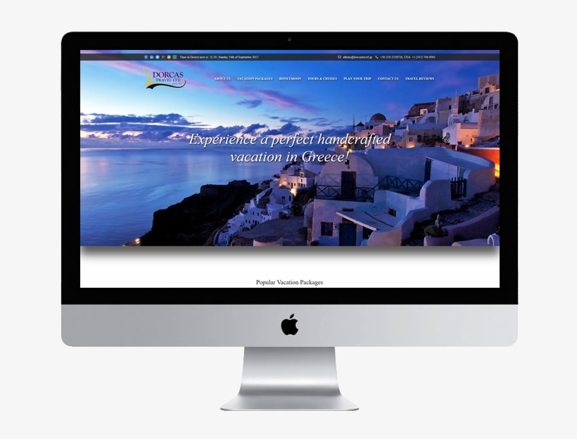 """4 Years After The Initial Design, The """"vacationgreece - Thíra, transparent png #4045214"""